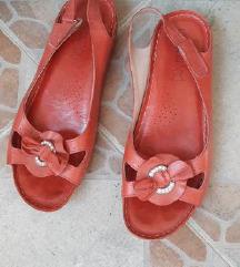LASOCKI crvene kozne preudobne sandale espadrile