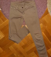 Krem - braon uske pantalone
