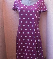 Bordo swing haljinica polka dot