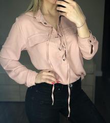 Bershka puder roze kosuljica