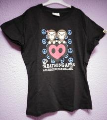 Crna majica sa aplikacijom majmuna