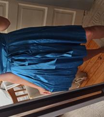 Plava viskoza haljina NOVO