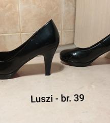 Luszi crne cipele na stiklu lakovane br.39