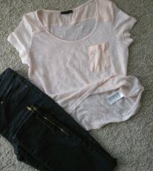 H&M nezno roze majica