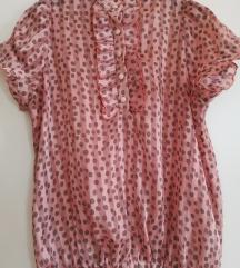 Roze košuljica sa braon tufnama