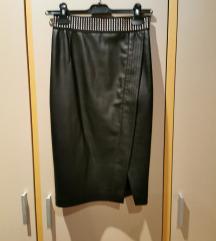 ZARA faux leather suknja