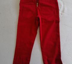 PIECES crvene pantalone