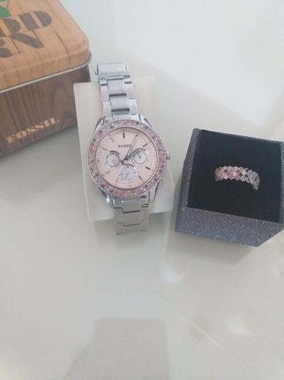 Fossil sat i NOV srebrni prsten