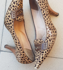 Koža/ poni dlaka animal print cipele