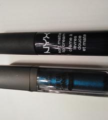 Nyx moscow mat plavi ruž + essence plavi sjajni.