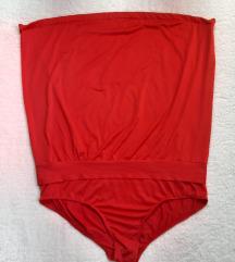 Crveni jednodelni kupaci kostim