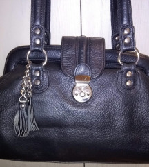 Mona crna kozna torba