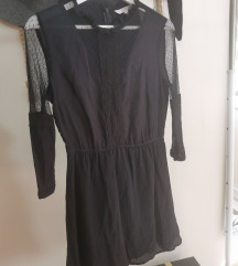 Crna C&A haljina sa cipkom