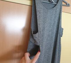 H&m haljina duga siva NOVA