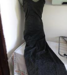 Gepard sivo svetlucava haljina S/M