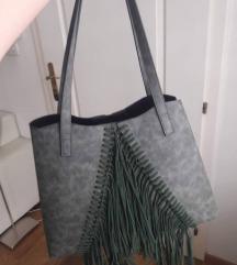 LEGEND Zeleno-siva torba