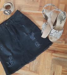 Crna teksas suknja