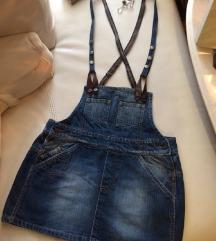 SN.3500din.Jeans overalls  suknja L,M (NENOSENA )