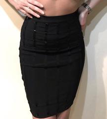 Herve Leger crna suknja sa kamencicima