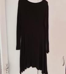 Crna haljina dugih rukava
