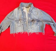Crop-top teksas jaknica