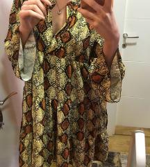 Italijanska haljina zmijskog dezena NOVA sa et.