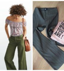 DANAS 400 ORSAY prugaste zvonaste pantalone ✿ s/m