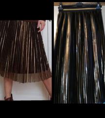 Crno zlatna suknja plisirana  +ptt