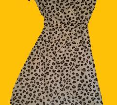 H&M leopard haljina na preklop 38