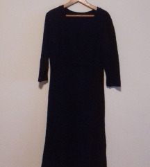 Plisana crna haljina