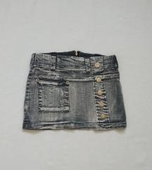 Siva teksas suknjica