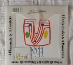 Podmetači za jelo i čaše Picasso