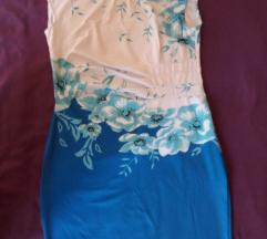 Hajina  bela-akvamarin-plava L-XL