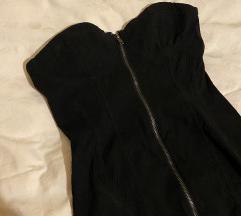 H&M crna top haljina