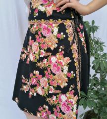 Pamučna suknja na preklop