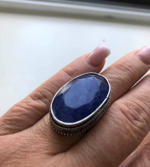 prsten plavi SAFIR