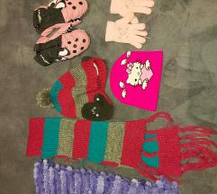 Kape, salovi, rukavice za devojcice