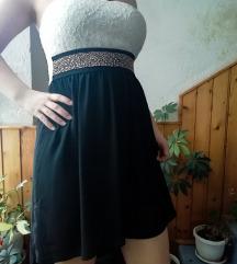 Prelepa crno-bela haljina
