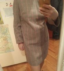 Mango stofana karirana haljina S