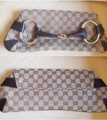Gucci Monogram Horsebit Clutch, original