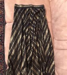 Zara zlatna plisirana suknja