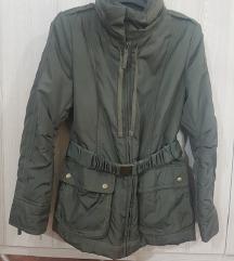 Zara Basic maslinasta debela jakna