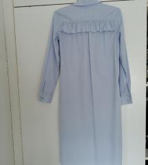Skroz nova H&M duga svetlo plava haljina XS