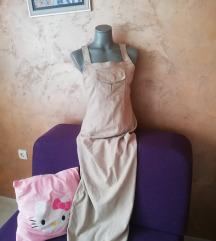 Maxi krem haljina