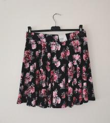H&M floral skirt sa zipom NOVO!