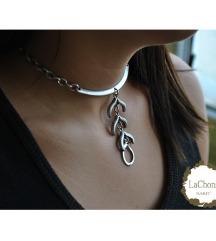 Posrebrena ogrlica - novo