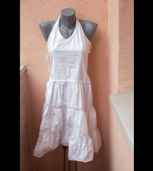 Romantična bela midi haljina sa radom XS/S