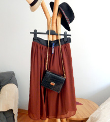 H&M midi bordo suknja / vel. 34