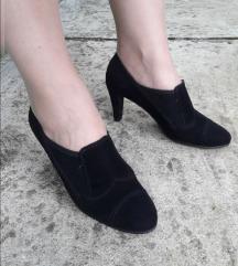ZOCAL ITALY crne kozne poluduboke cipele 24cm