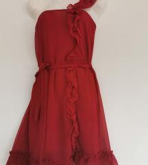Crvena lepršava haljina AKCIJA
